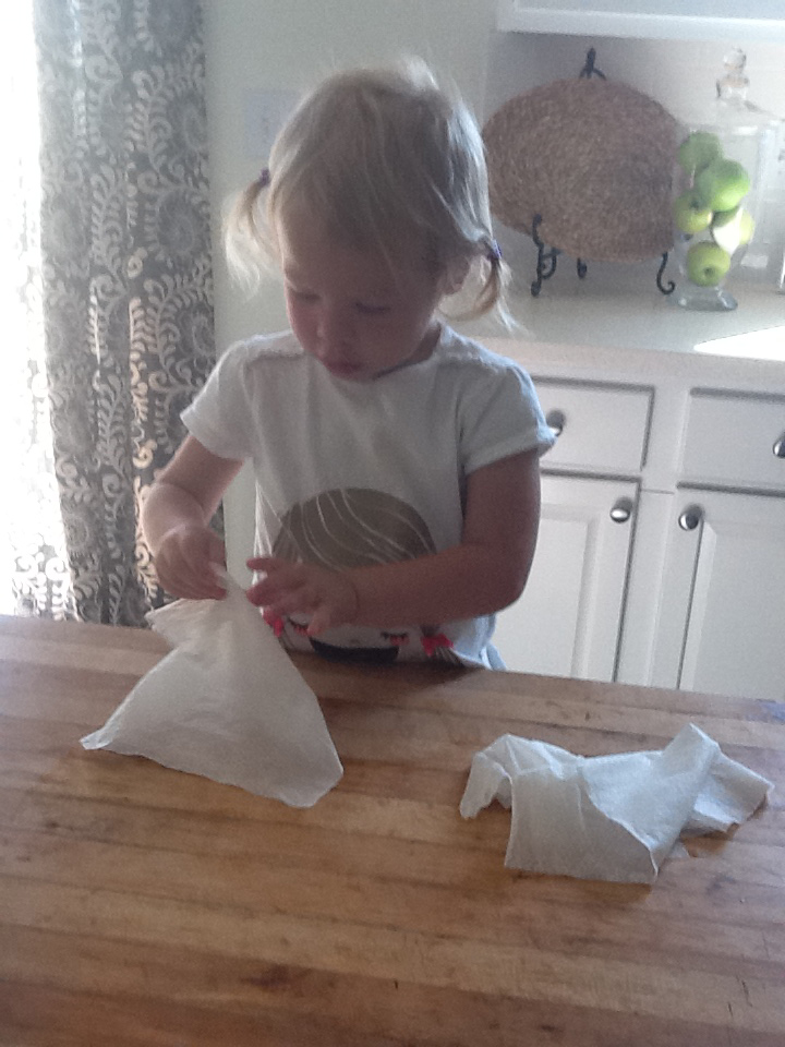 Norah at Kit Table