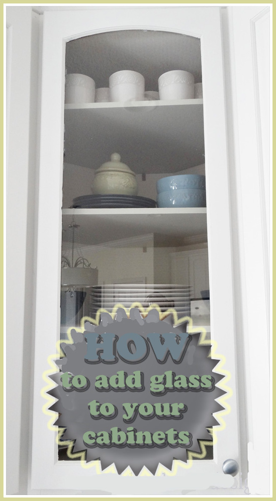 How to put add glass to cabinet door