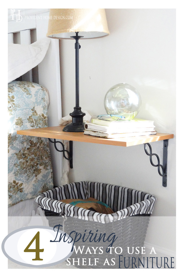 Ways to use a shelf as Furniture