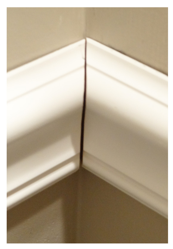 chair rail corners without caulk