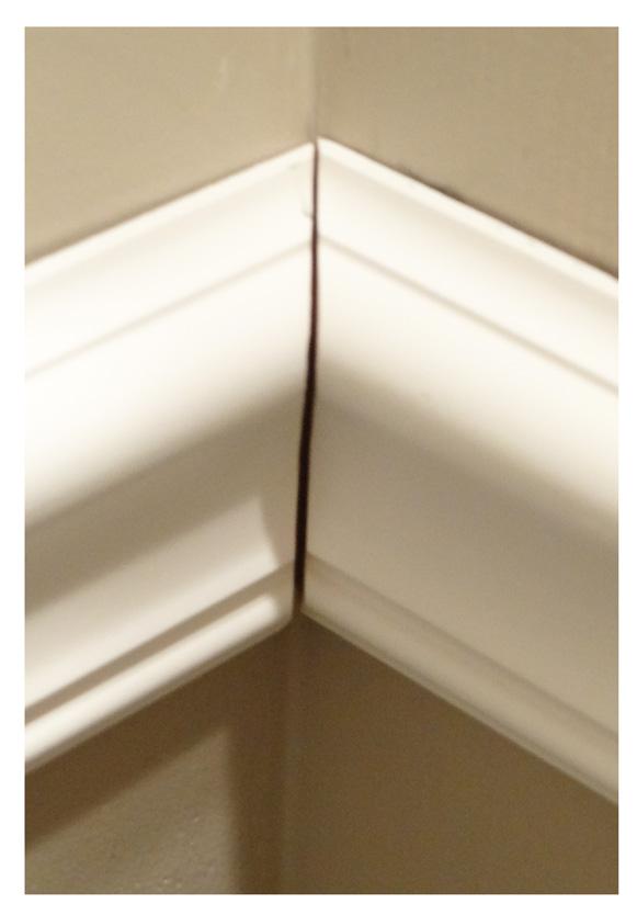 chair rail corners without caulk