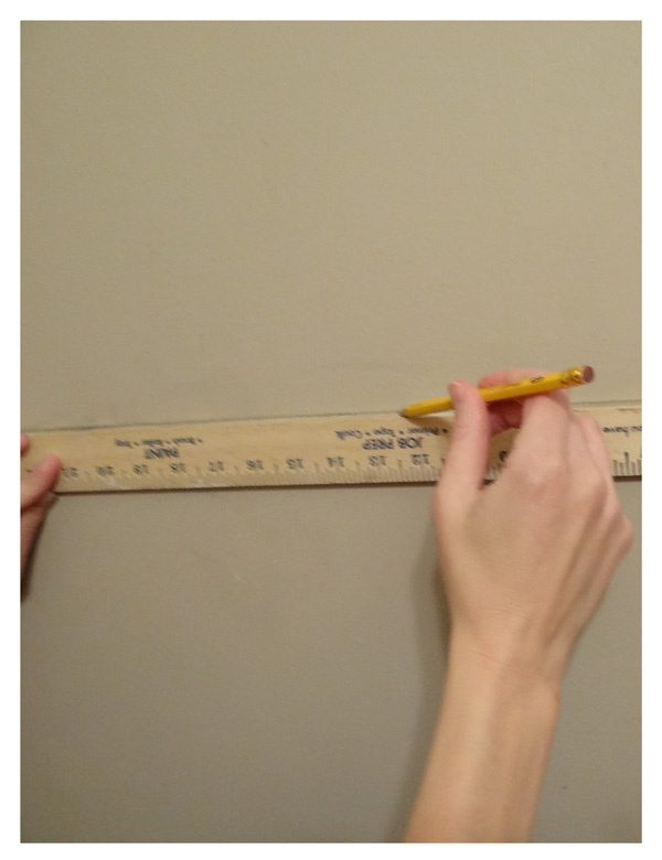 drawing line for chair rail