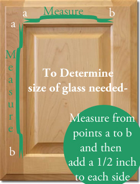 How to measure what size glass you need for cabinet door