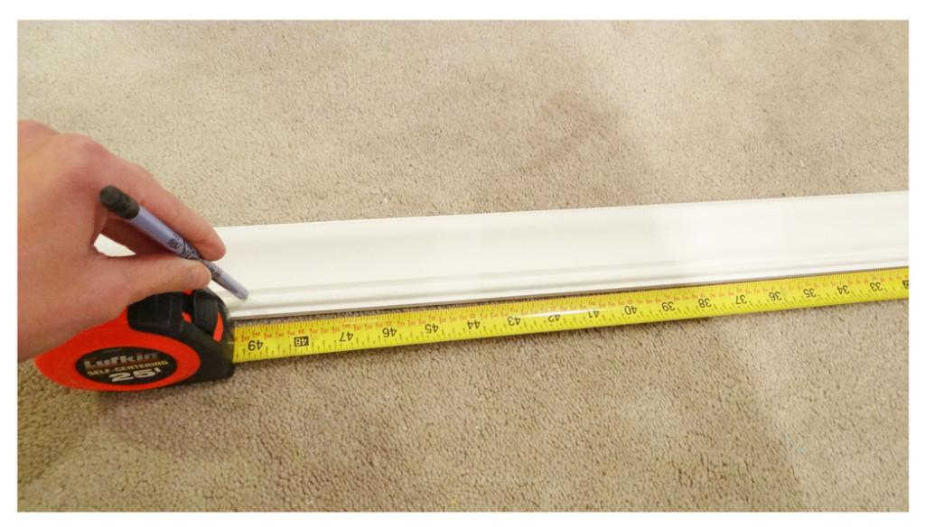measuring chair rail for cuts