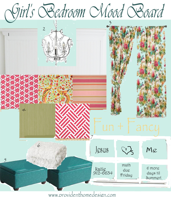 Girl's Bedroom Mood Board and Some Deals
