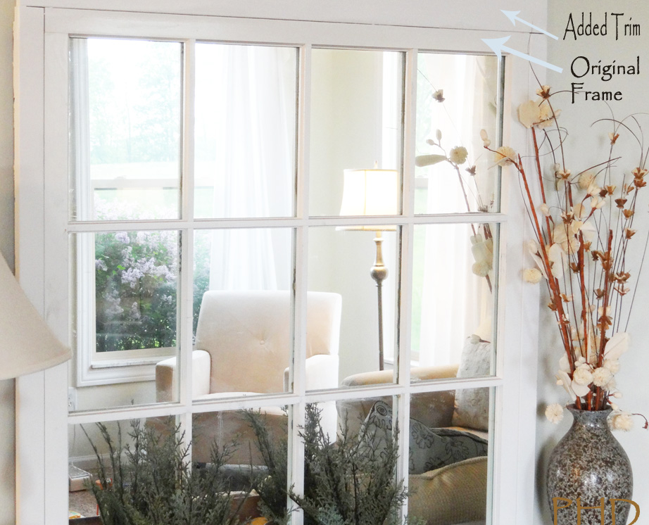Attractive DIY Window Pane Mirror MZ44