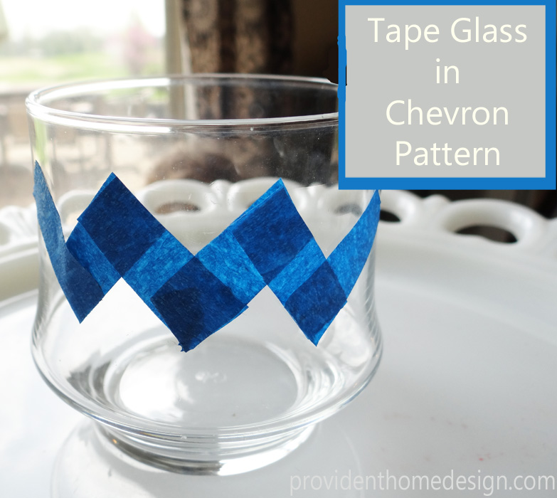 tape in chevron pattern