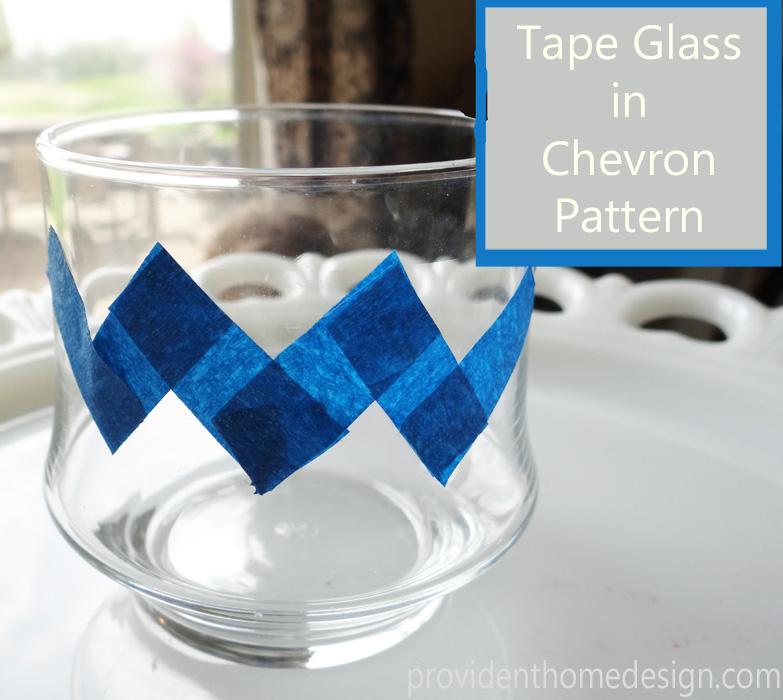 tape in chevron pattern