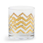 DIY Gold Chevron Glassware