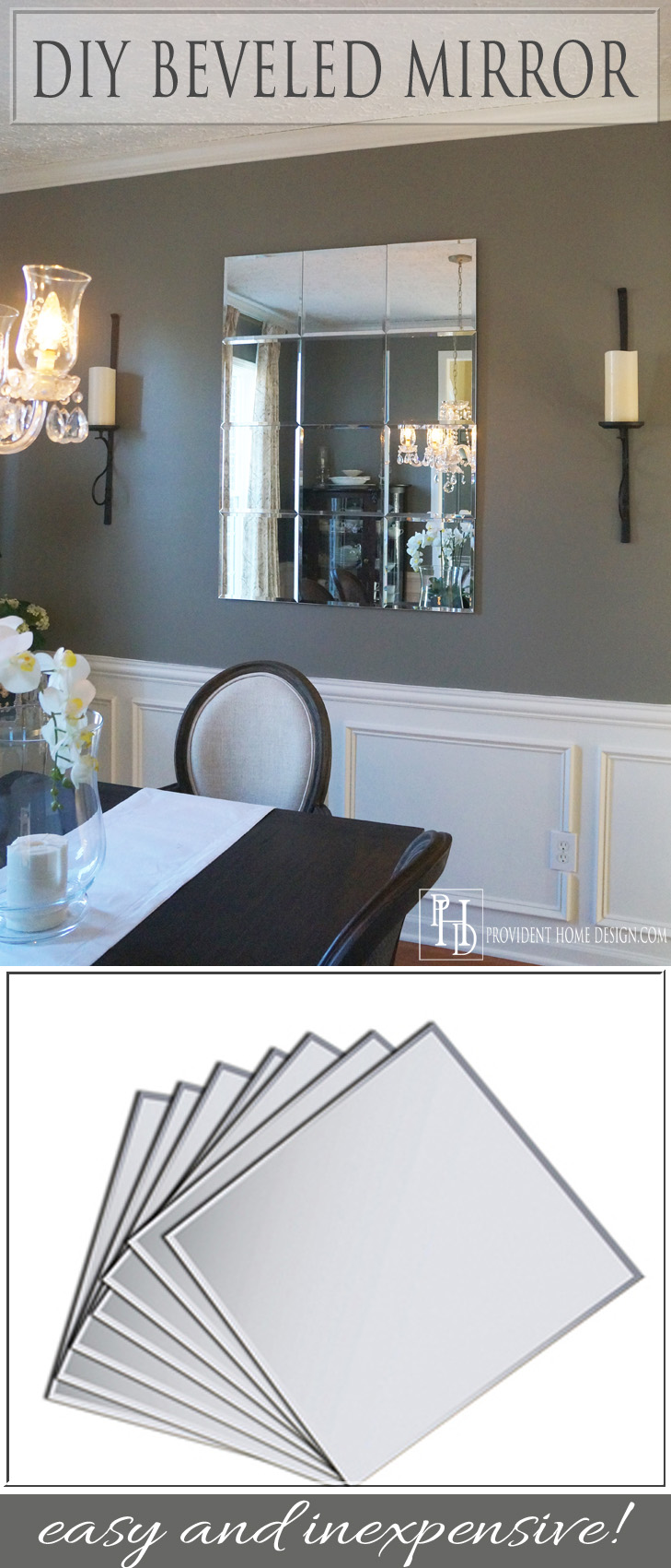 DIY Beveled Mirror--Gorgeous!