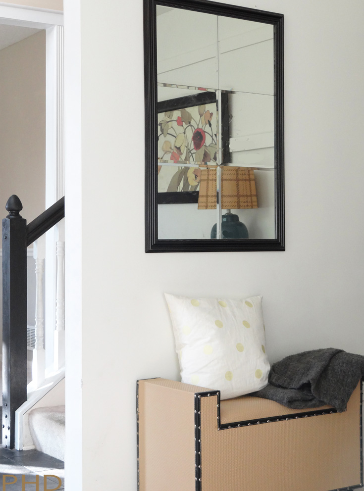 DIY beveled mirror pottery barn knockoff