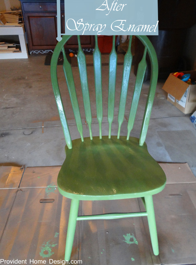 americana chalk paint after spray enamel