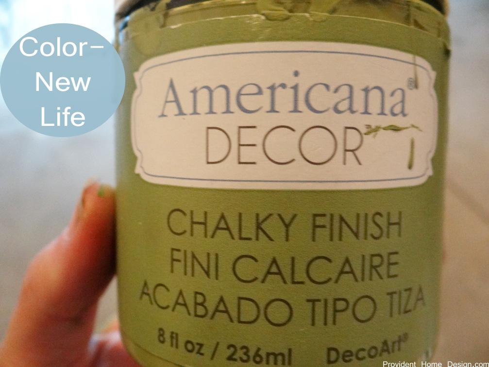 americana chalk paint color new life