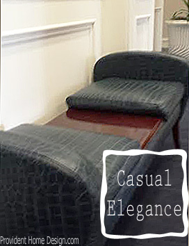 casual elegance decor bench