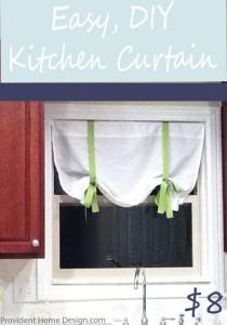 diy easy kitchen curtains