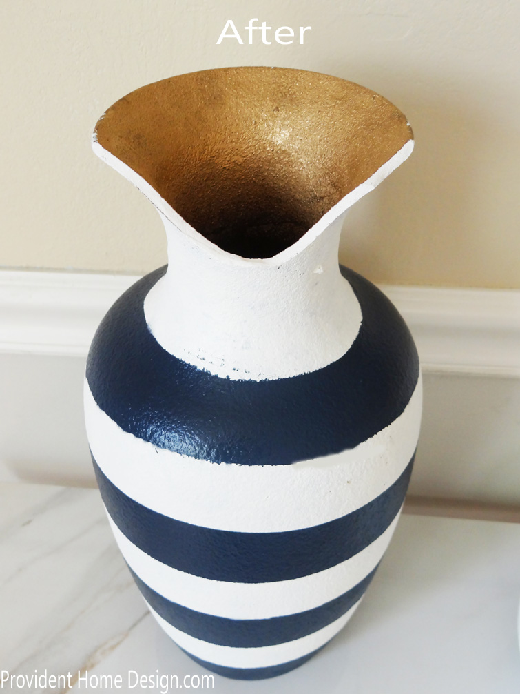 painted vase after