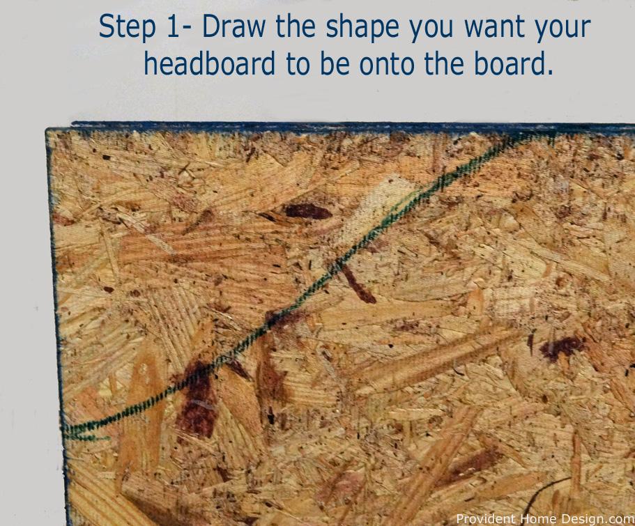 DIY Upholstered headboard step 1