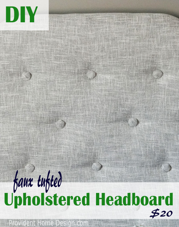 DIY faux tufted headboard tutorial