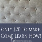 DIY Faux Tufted Headboard