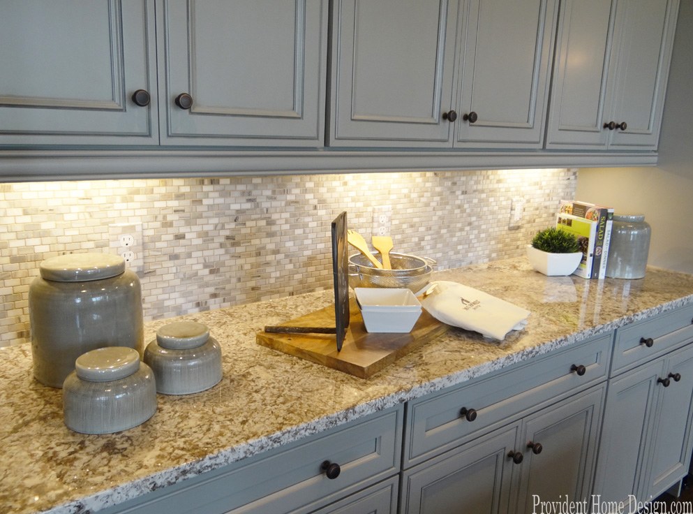Gray Painted Cabinets