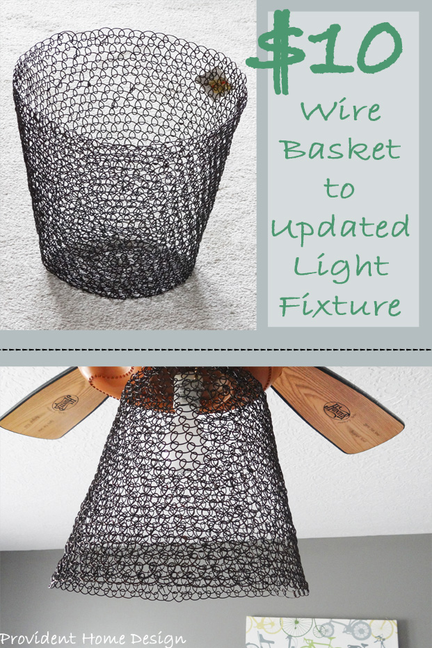 Wire Basket Light Fixture