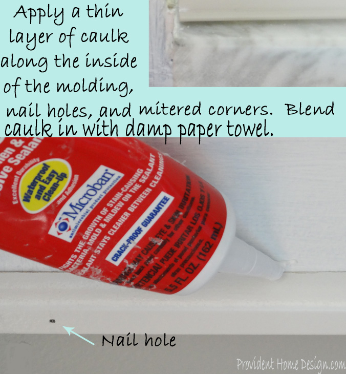 caulk shoe molding