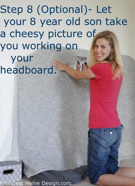 faux tufted headboard tutorial