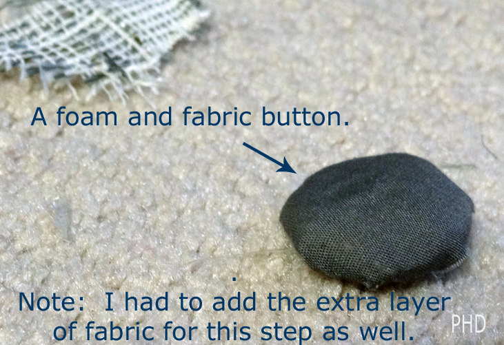foam and fabric button