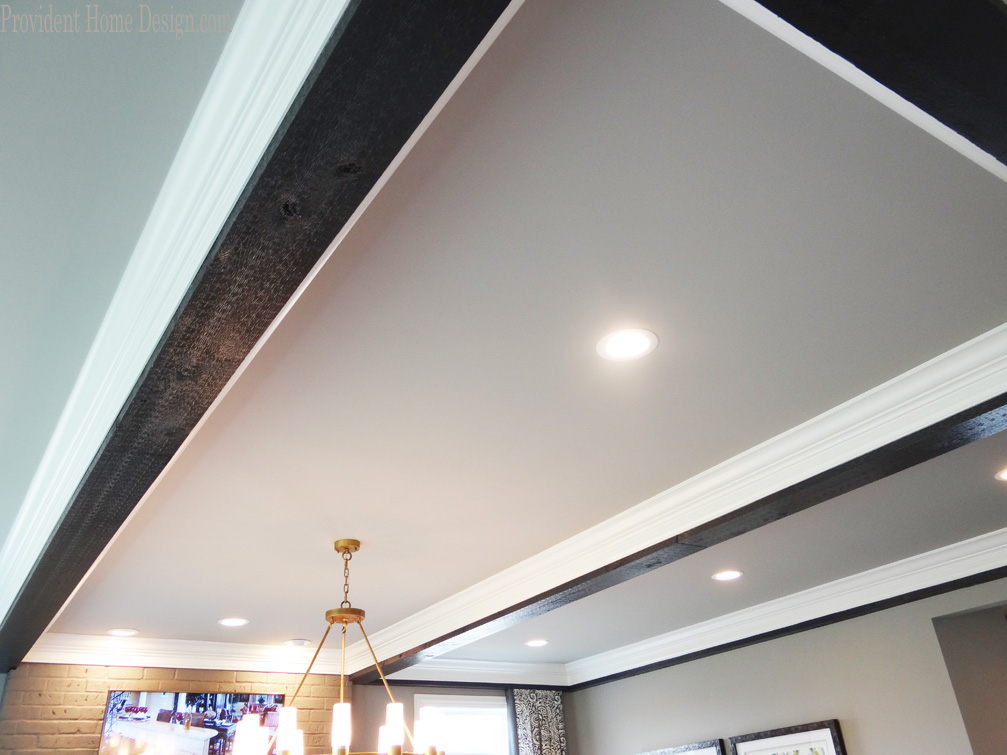 two toned ceiling beams