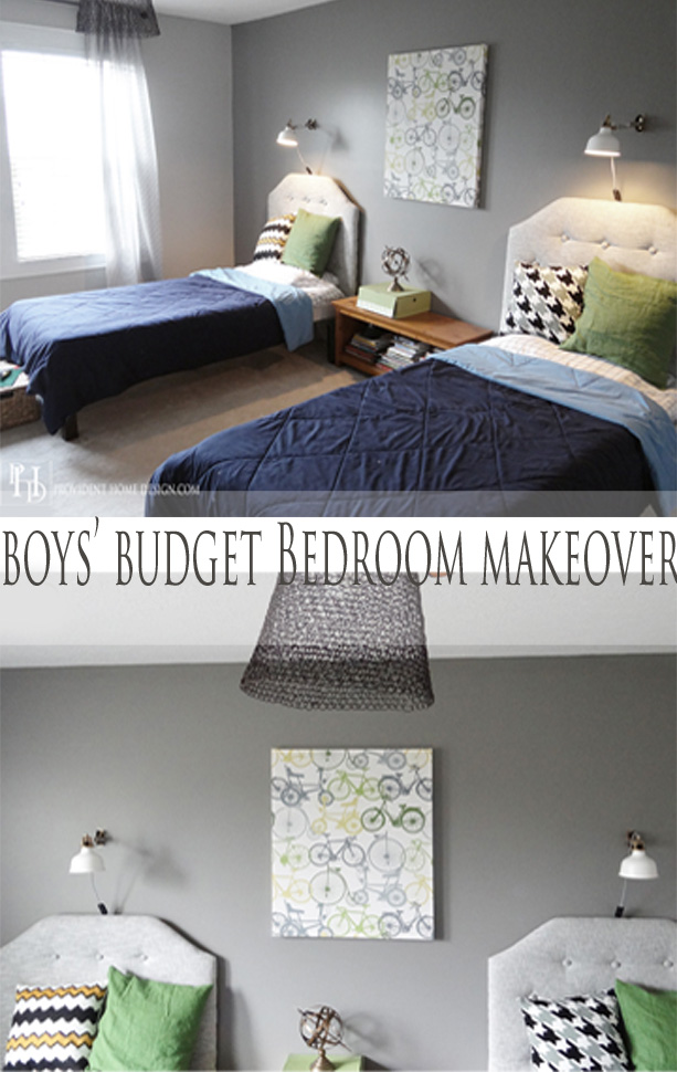 Boys Budget Bedroom Makeover