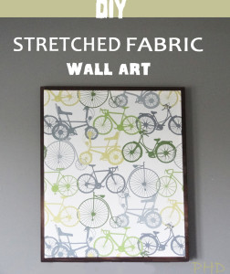 DIY Stretched Fabric Wall Art