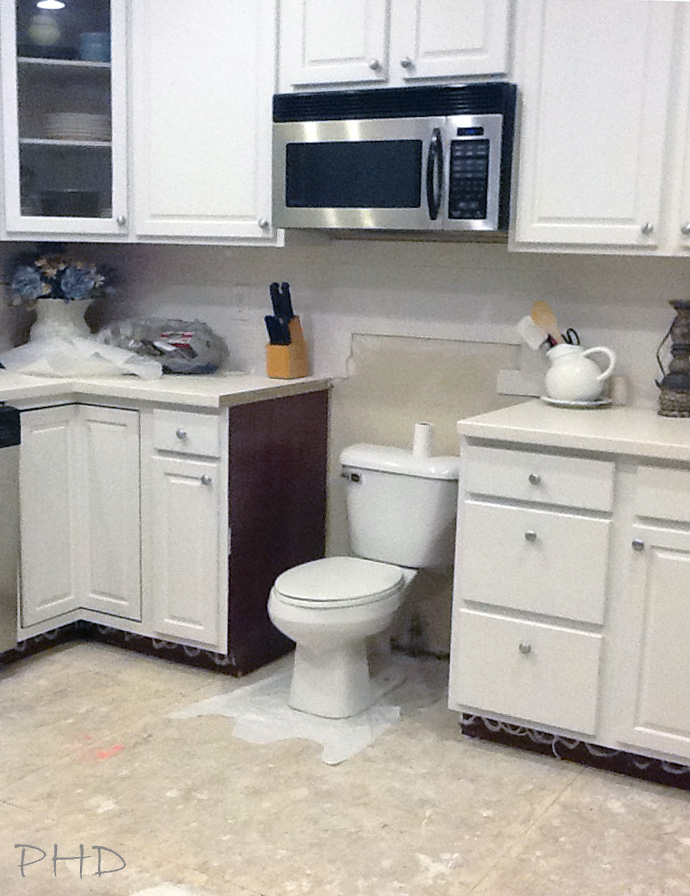 Toilet in Kitchen
