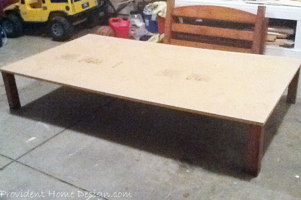 add legs to plywood