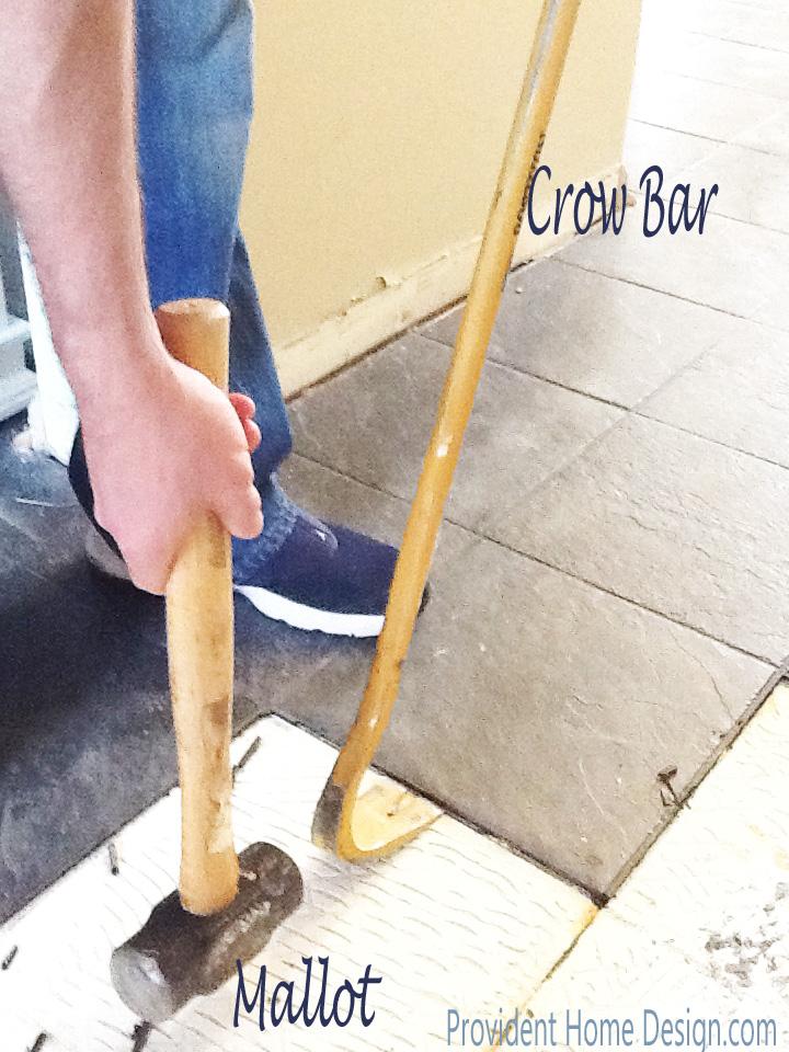 crow bar and mallot