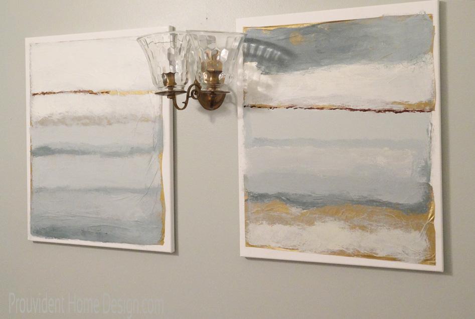 Ballard Designs Painting in Powder Bathroom