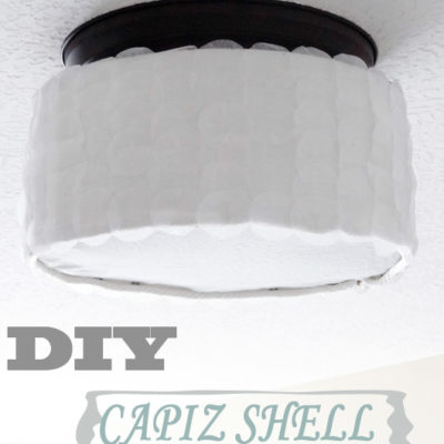 DIY Capiz Shell Drum Light Fixture