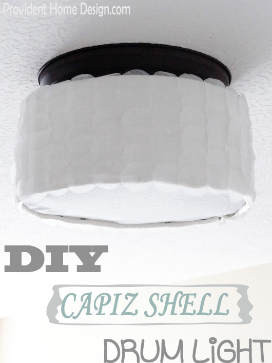 DIY Capiz Shell Drum Light Fixture - Basic light fixture