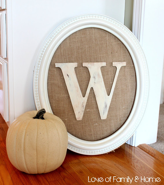 DIY Monogrammed Picture Fall Wedding Decor 015