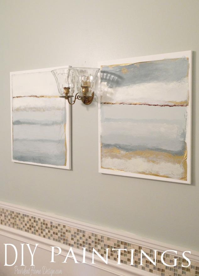 DIY Paintings for Bathroom