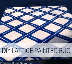 DIY lattice painted rug