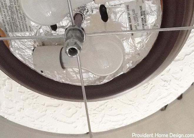 Inside DIY Light Fixture