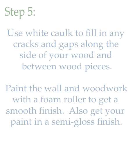 Step 5 paint mantle woodwork white