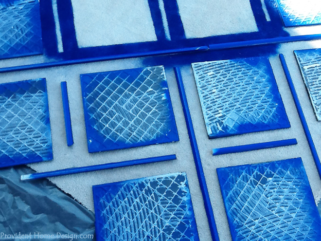 upclose of rug pattern