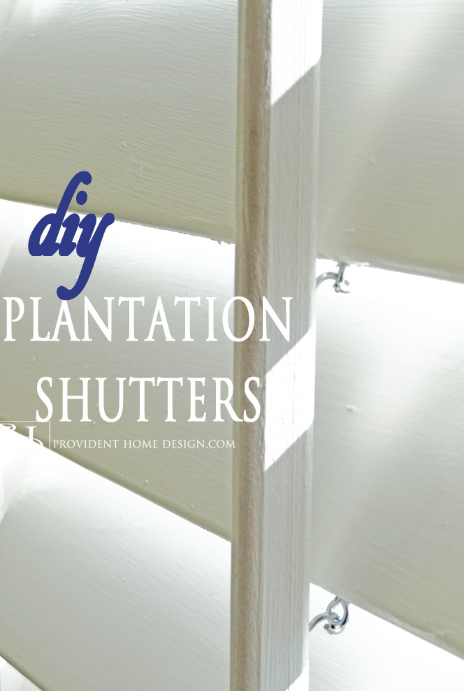 How to Make Plantation Shutters Tutorial