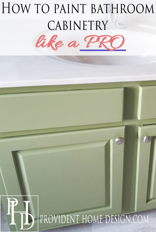 How to Paint Bathroom Cabinetry like a Pro