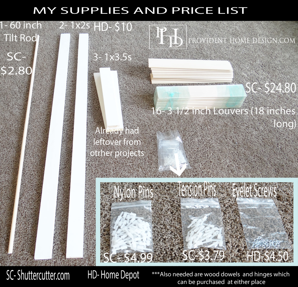 Plantations Shutter Supplies and Prices