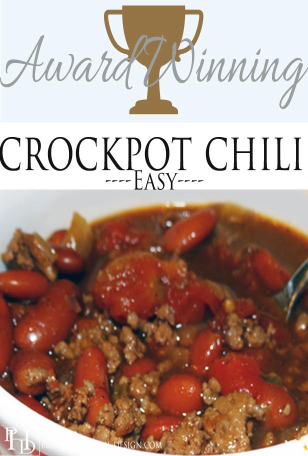 Award Winning Crockpot Chili