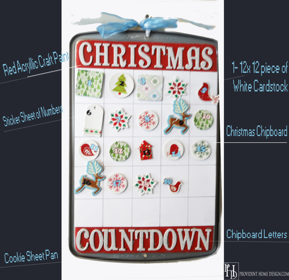 DIY Cookie Sheet Christmas Countdown