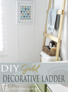 DIY Gold Ladder Towel Holder 2
