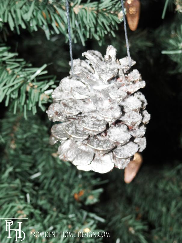 Glittery Pine Cone Ornament